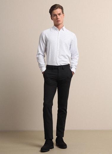 Kip Kip Slim Fit Çizgili Siyah Pantolon Siyah